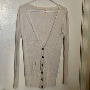 Target Cream Colored Button Down Cardigan